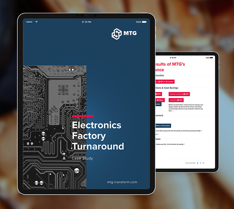 electronics factory case study